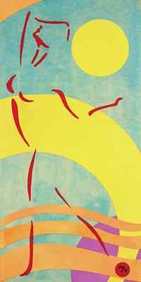 Mixed Media - Sun Dance by CJ Peltz