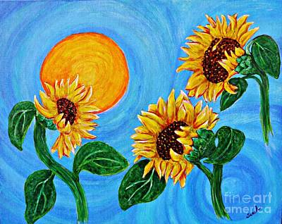 Sunflower Painting - Sun Dance by Sarah Loft