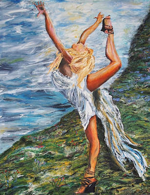 Painting - Sun Dancer Nastia by Gregory Allen Page