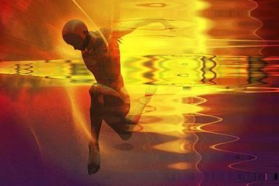 Print featuring the digital art Sun Dancer by Shadowlea Is