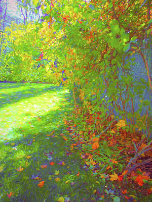 Mixed Media - Sun Dappled - Early Autumn by Susan Lafleur