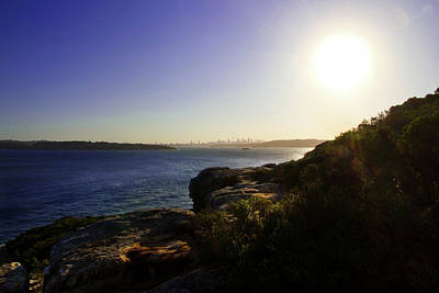 Photograph - Sun Descent Over Sydney by Miroslava Jurcik