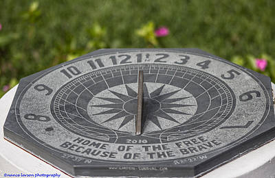 Photograph - Sun Dial  by Nance Larson