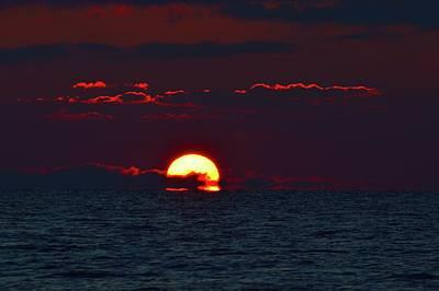 Photograph - Sun Disk Behind A Cloud by Lyle Crump