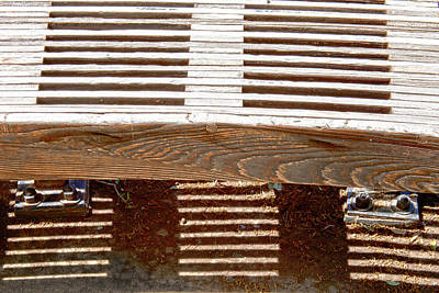 Photograph - Sun Drenched Bench by Ross Odom