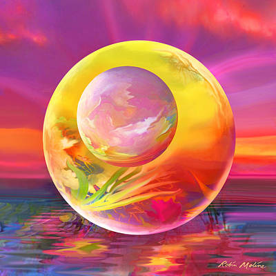 Digital Art - Sun Drops by Robin Moline