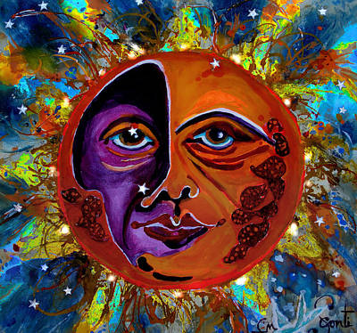 Mary Sonya Conti Painting - Sun Duality by Mary Sonya  Conti