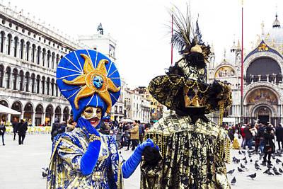Beaded Gloves Photograph - Sun Face 2015 Carnevale Di Venezia Italia by Sally Rockefeller