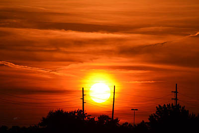 Photograph - Sun Fire In The Sky by rd Erickson
