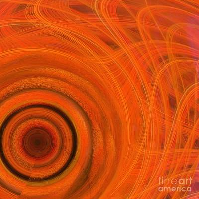 Digital Art - Sun Flare Abstract by Mary Machare