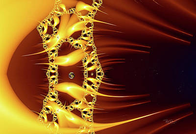 Digital Art - Sun Flare Dna by Bill Posner