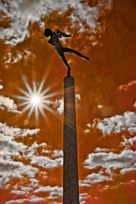 Photograph - Sun Flare On Angel by Alice Gipson