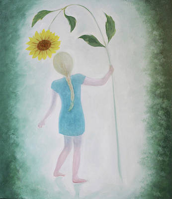 Painting - Sun Flower Dance by Tone Aanderaa