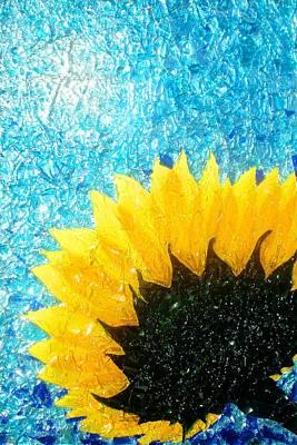 Glass Mixed Media - Sun Flower by Desiree Soule