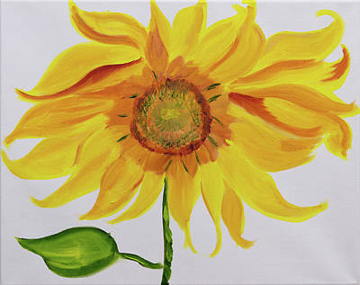 Painting - Butterscotch Sunflower by Meryl Goudey