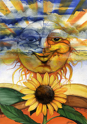 African-american Mixed Media - Sun Flower2 by Anthony Burks Sr