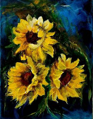 Painting - Sun Flowers 1 by Chuck Kemp