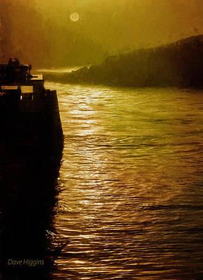 Digital Art - Sun Fog Water,monhegan Island, Maine by Dave Higgins