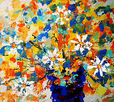 Painting - Sun Glow Bouquet by Natalie Holland