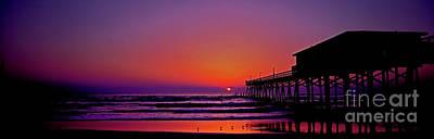 Photograph - Sun-glow Fishing Pier Daytona Beach Florida by Tom Jelen