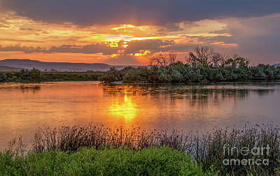 Photograph - Sun Glow On The Snake River by Robert Bales