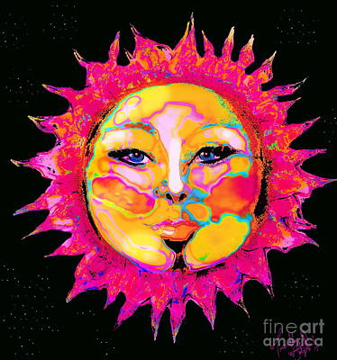 Digital Art - Sun Goddess She Sun by Expressionistart studio Priscilla Batzell