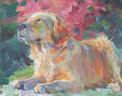 Golden Retriever Painting - Sun Goddess by Kimberly Santini