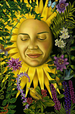 Womens Art Painting - Sun Goddess by Pamela Wells