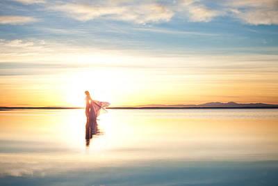 Photograph - Sun Goddess Wide by Dario Infini