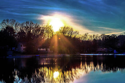 Photograph - Sun Going Down by Barry Jones