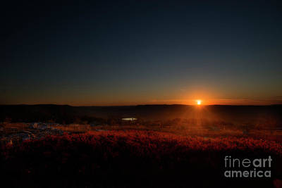 Photograph - Sun Going Down Behind Mountain by Dan Friend