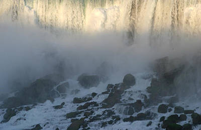Photograph - Sun Going Down On American Falls by Living Color Photography Lorraine Lynch