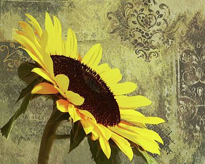 Mixed Media - Sun Gold by I'ina Van Lawick