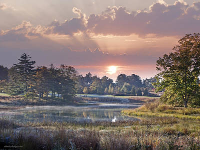 Photograph - Sun Greets Autumn Lansdscape by Ed Dooley