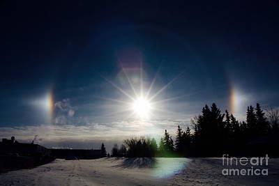 Photograph - Sun Halos by Linda Bianic