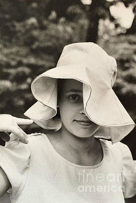 Photograph - Sun Hat - 1966 by Miriam Danar