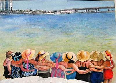 Painting - Sun Hats And Ribbons  by Bobby Walters