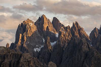 Photograph - Sun Illuminating Peaks In The Dolomites Mountains, Italy, Europe by Blaz Gvajc