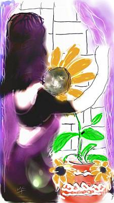 Digital Art - Sun In Her Interior by Subrata Bose