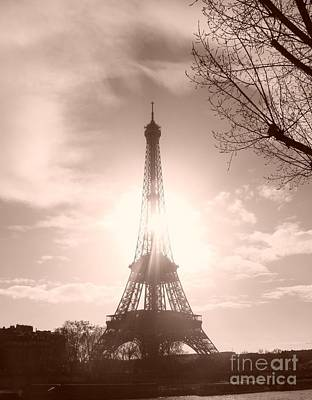 Sun In Paris Art Print