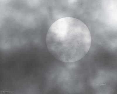 Photograph - Sun In The Clouds With Sunspot by Mick Anderson