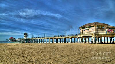 Photograph - Sun Is Up Huntington Beach Pier Surfing Mecca Art by Reid Callaway