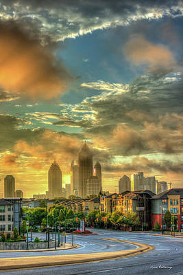 Photograph - Sun Is Up Midtown Atlanta Atlantic Station 2 by Reid Callaway