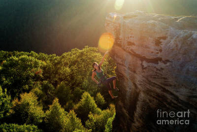 Photograph - Sun Kissed Climber by Dan Friend