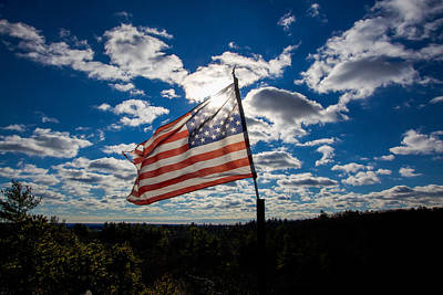 Photograph - Sun Kissed Flag by Brian MacLean