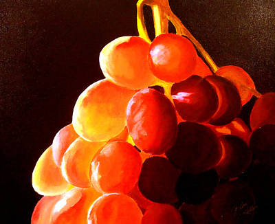 Painting - Sun Kissed Grapes by JoeRay Kelley