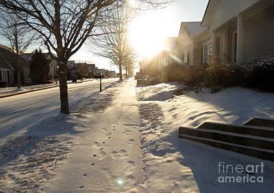 Photograph - Sun Kissed Snowy Scenery- Georgia by Adrian DeLeon