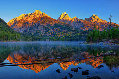 Photograph - Sun Kissed Teton Peaks by Greg Norrell