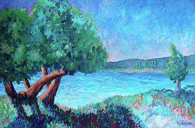 Impressionistic Painting - Sun Lakes by Peggy Johnson