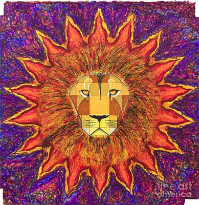 Fibonacci Series Painting - Sun Lion by Ernesto Barreiro